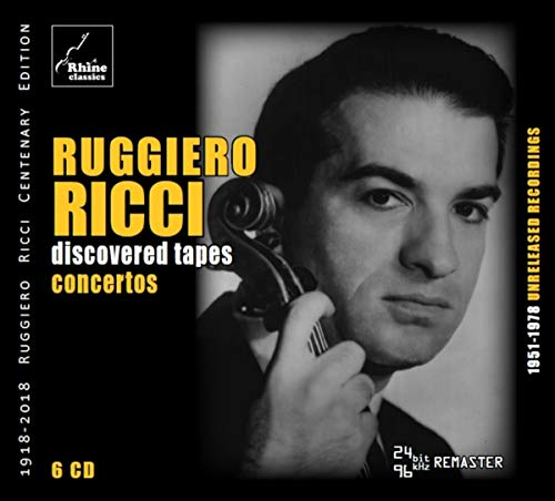 CD : RUGGIERO RICCI - Discovered Tapes: Concertos (6 Discos)
