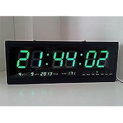 Denshine® Digital Large Big Jumbo LED Wall Desk Clock Calendar Temperature