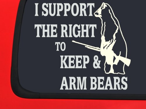 I support the right to keep and Bear Arms - Hunting Window decal truck vinyl sticker (Right To Bear Arms Window Decal compare prices)