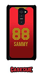 Caseque IPL Royal Challengers Banglore Sammy Jersey Back Shell Case Cover For LG G2