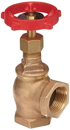 Milwaukee Valve 504 Series Bronze Globe Valve, Class 125, Elbow, Threaded Bonnet, NPT Female
