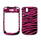 Hot Pink and Black Zebra Stripes Design Snap-On Cover Hard Case Cell Phone Protector Blackberry Tour 9630[Accessory Export Packaging]