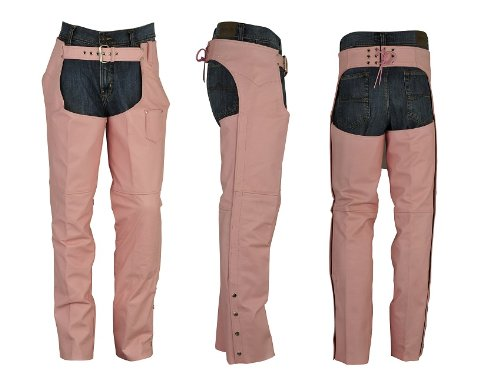 Classic Loose Fit Ladies HL-338 Leather Chaps Sz M Thigh(24