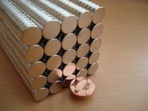 20 Neodym-Supermagnete 8 x 2 mm