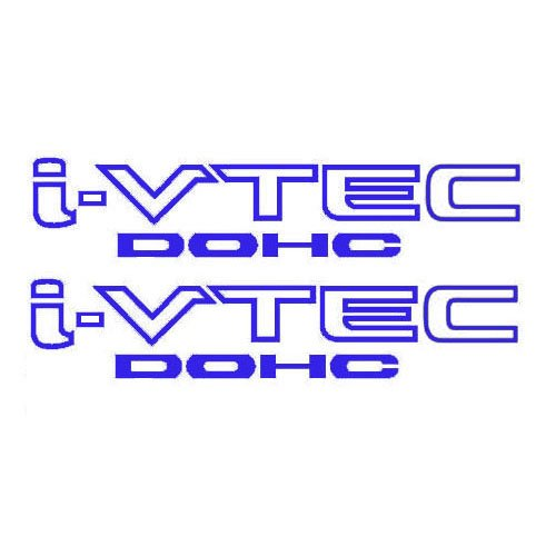 2 Pieces Blue I-VTEC DOHC STICKER DECAL EMBLEM CIVIC S2000 ACCORD JDM IMPORT ILLEST (Vtec Dohc Emblem compare prices)