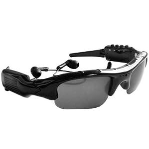 ElecBank MP3 Player Sunglasses Video Glasses Spy DV DVR Recorder camcorder Camera +4GB TF Card