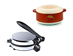 GTC_ COMBO OF DETACHABLE ROTI MAKER WITH CASSEROLE