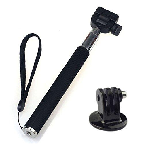 Chianrliu GoPro-E-selfie stick Pro Deluxe estensibile in alluminio, estensibile Handheld Manfrotto Forchetta telescopica per GoPro Hero 3/2/1, fotocamere e altri