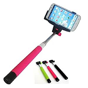 handheld bluetooth selfie stick monopod extendable for and others assorted colors. Black Bedroom Furniture Sets. Home Design Ideas