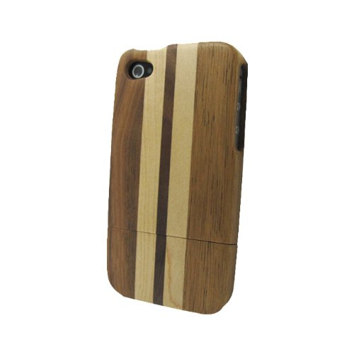 Natural Handmade-Carved Wood Bamboo Wooden Case Cover Skin For iPhone 4 4G 4S SS8