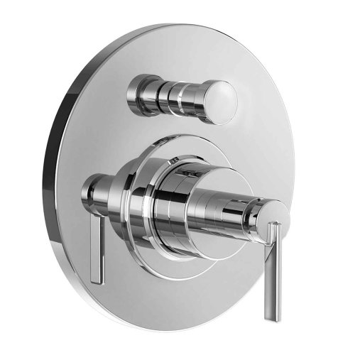 Jado 847141.100 Stoic Pressure Balance Diverter Tub and Shower Valve with Cy Handle, Polished Chrome