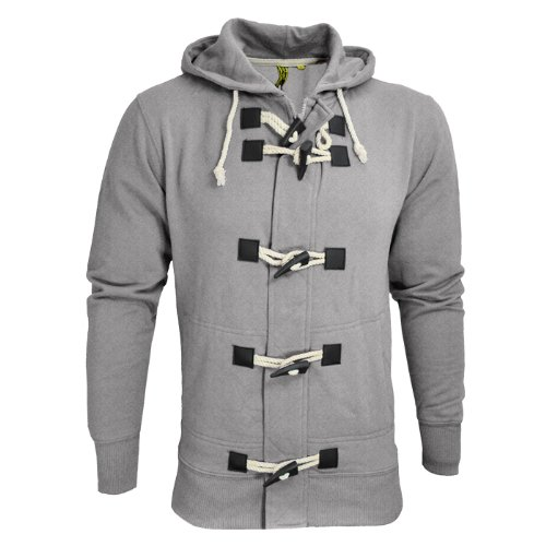 Raiken Bailey Toggle Button Hooded Sweatshirt Top Jacket Mens Size XL - Grey