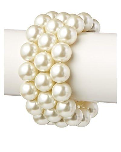 Kenneth Jay Lane Set of 3 Light Cultura Pearl Stretch Bracelet