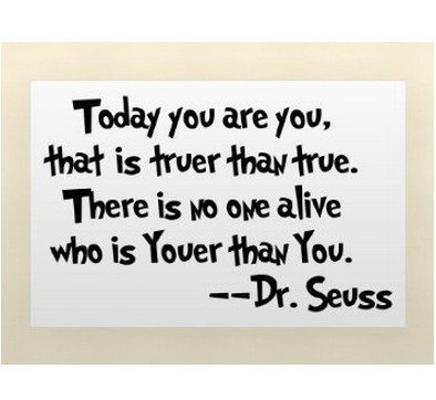 Quote It! - Dr. Seuss Today You Are You Wall Quote, Kids Sayings Transfers Murals Baby Art Vinyl Decals Stickers Love Kids Bedroom Transfer Children School Teacher Nursery Daycare Made in USA