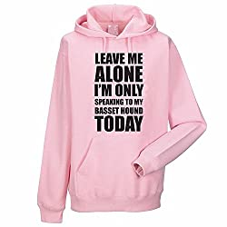 LEAVE ME ALONE I'M ONLY SPEAKING TO MY BASSET HOUND TODAY - Dog / Novelty / Funny Gift Idea Women's Hoody / Hoodies