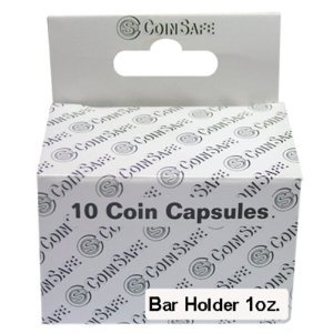 CoinSafe Capsules for 1 oz Silver Bars, Box of 10 - 1