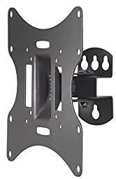 VonHaus Swivel Tilt TV Wall Mount Bracket for 17-37-Inch LED LCD 3D Plasma TVs with Super Strong 66lbs Weight Capacity, Model No 05/027
