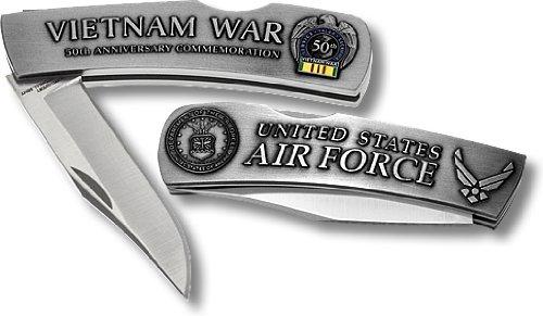 Us Air Force Vietnam 50Th Anniversary Small Lockback Knife
