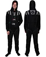 Star Wars Darth Vader Fleece Adult Unionsuit Costume Pajamas