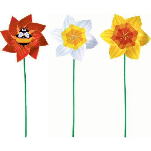 bee and daffodil pinwheel assorted