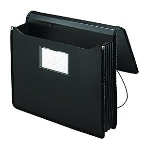 """Smead Poly Premium Wallet, 5-1/4"""" Expansion, Letter Size, Black (71500)"""