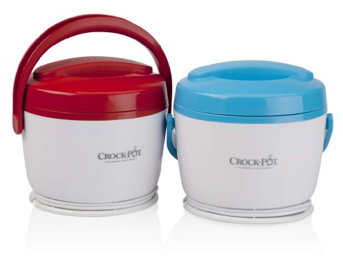 Crock-Pot SCCPLC200-2BR 20-Ounce Lunch Crock Food Warmer, Blue/Red, 2