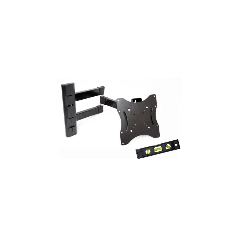 GSI High Grade Sturdy Steel Articulating Arm Wall Mount with Tilt and Swivel Functions   for LCD/LED/TV/DVD/Combo/Blu Ray Flat Panel Monitors/Screens/Displays, Mounting Brackets Fits 23 Inch to 37 Inch Screens