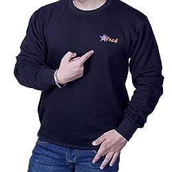 ROUND NECK PRINTED BLACK SWEATSHIRT RS448292 40 Medium