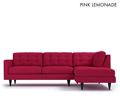 The Logan 2pc Sectional Sofa RAF Pink Lemonade