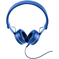 Brookstone On-Ear 3.5mm Wired Studio Headphones (Indigo)