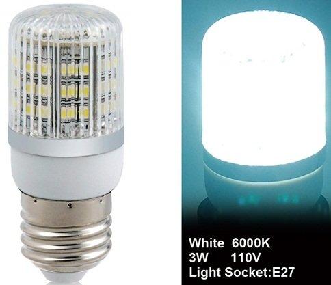 True 3528-48L-110V 3W E27 48 X 3528Smd White Led Corn Bulb With Cover