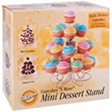 Wilton 307-250 Cupcakes `n More 24-Count 4-Tier Mini Dessert Stand