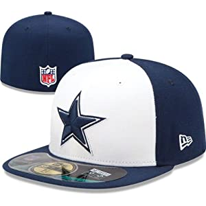 Dallas Cowboys On-Field 59Fifty White Fitted Sideline Hat by New Era