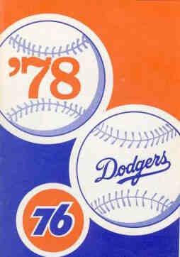 1978 Los Angeles Dodgers Pocket Schedule Union Oil