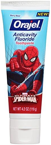 Orajel Spider-Man Anticavity Fluoride Toothpaste, Berry Blast, 4.2 Oz