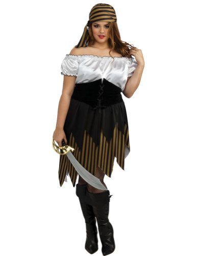 Buccaneer Girl Adult Costume 16-20 Adult Womens Costume