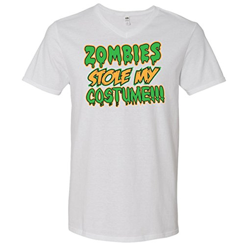 Inktastic Zombies Stole My Costume!!! Men's V-Neck T-Shirts
