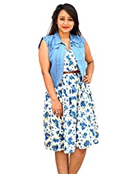 Aarti Collections Stylish Light Blue Collar Jacket for Women
