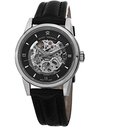 Revue Thommen 12010.2537 35mm Automatic Stainless Steel Case Black Calfskin Anti-Reflective Sapphire Women's Watch
