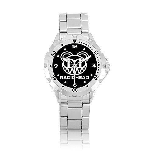 Wristwatch Men Stainless Steel Watch Psm301 Radiohead Rock Band Logo #2B