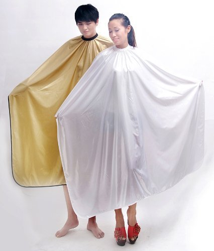 Hairdressing Waterproof Hair Capes Barber apron Hair Capes For Salon 140160 cm LOGO CAN BE PRINT! (Gold Yellow color) by HANHE
