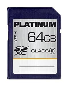 Platinum 177119 Carte mémoire SDXC Class 10 64 Go