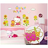 Decals Arts Pink Hello Kitty Childrens Room Wall Stickers