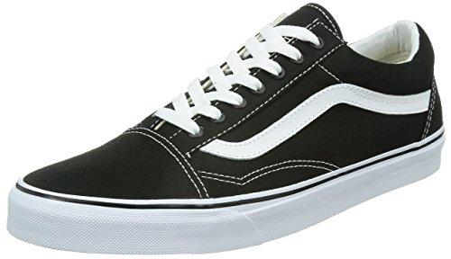 Vans Men's Old Skool Skate Shoe (9.5 D(M) US, Black/True White)