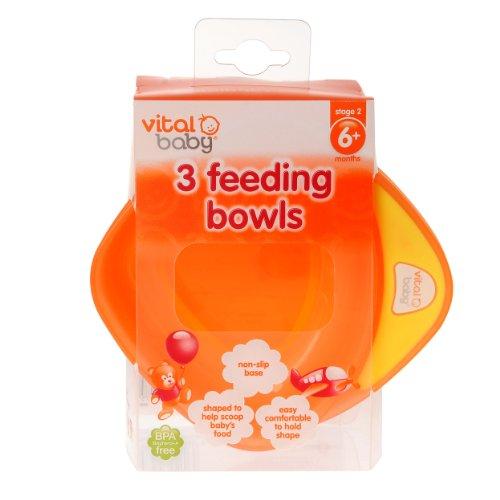 Imagen 5 de Vital Baby - Boles infantiles (3 unidades), color naranja