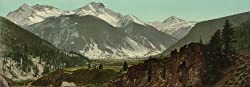 Colorado Rockies' Sultan Mountain, 1898 - Exceptional Print of a Vintage Photochrom Image from the Library of Congress Collection