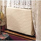 "Indoor Air Conditioner Cover (Beige) (Large - 18 -20""H x 26 -28""W x 2""D)"