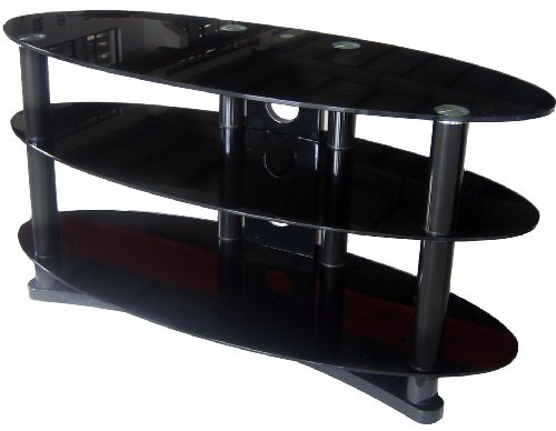 Zyon Ellipse LCD and Plasma Glass TV Stand w/ Cable Management - 26