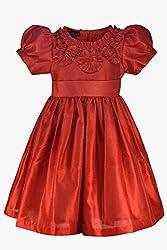 RED DUPION DRESS