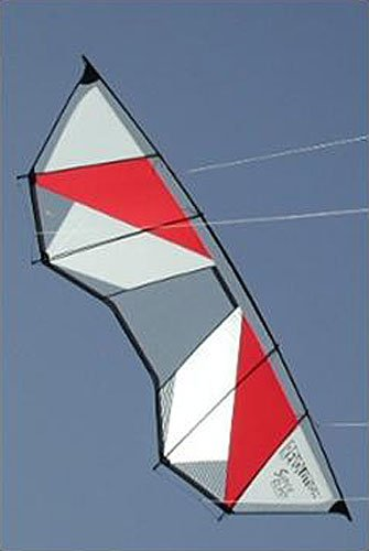 Revolution Power Blast Quad Line Power Stunt Kite White Red Made in the USA